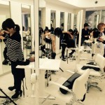 美容師の練習風景★