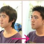【メンズ髪型】夏はアップバングにジェル仕上げがオススメです!