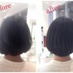 縮毛矯正で自然な内巻きボブはできる!髪がはねる悩みを解決