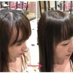 前髪が分かれるクセには縮毛矯正がオススメ