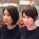 小顔に見える髪型はショートヘアが一番です!