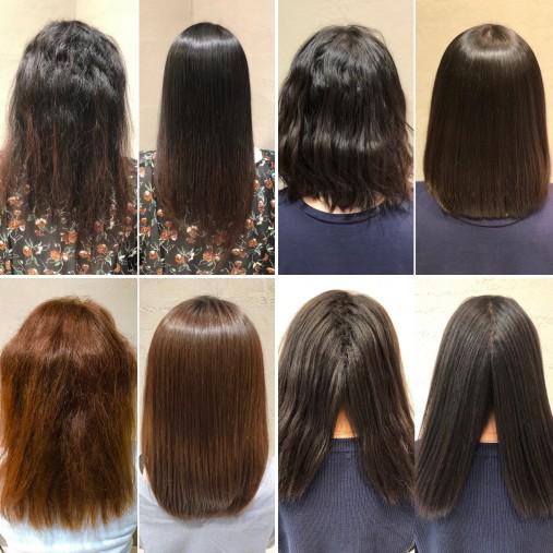 東京で縮毛矯正の上手な美容師のbefore&afterの画像