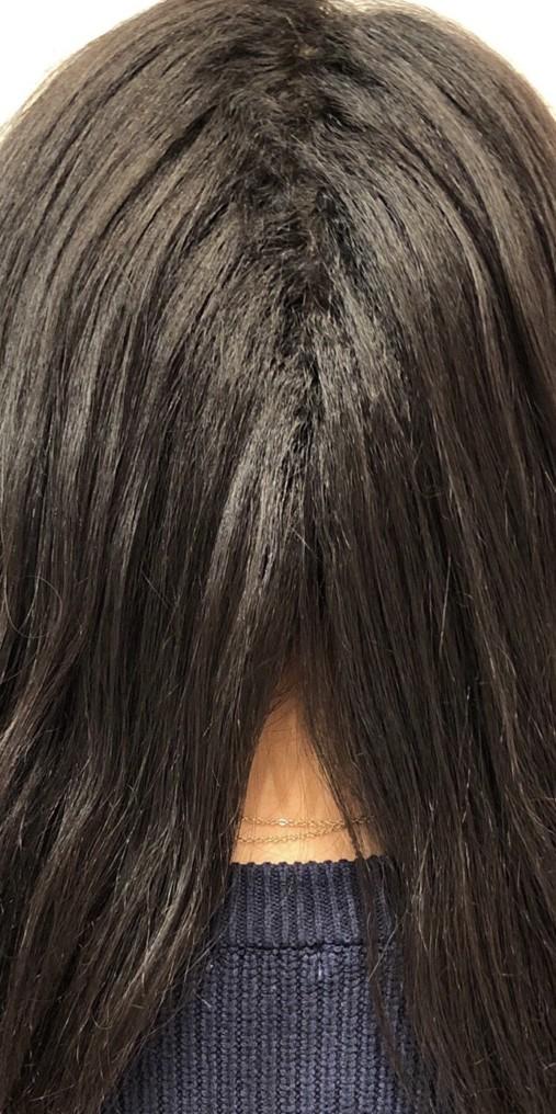 縮毛の画像